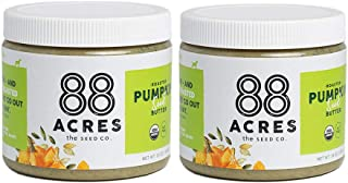 88 Acres, Organic Pumpkin Seed Butter, Nut-Free, Non-GMO, Dairy-Free, Keto-Friendly, 14 Ounce, 2 Pack