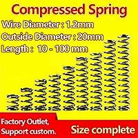 Zixinz-スプリング拡張 スプリングワイヤの直径1.2mm、外径20mm、圧縮ばね圧力スプリングリリーススプリング、 優れた柔軟性 (Length : 80mm (5Pcs))