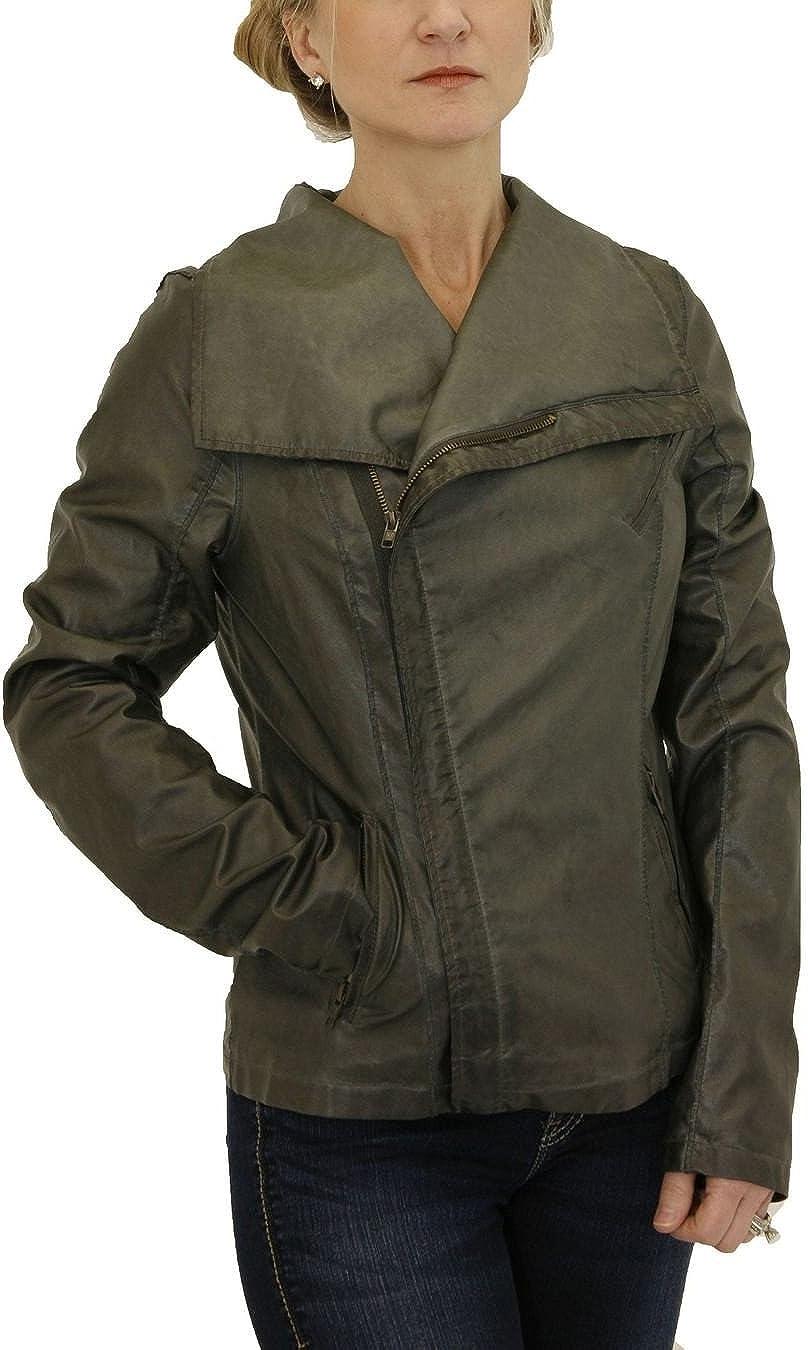 Black Swan BJ133226 London Calling Smoke Gray Leatherette Jacket