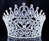 Sexy Beauty Queen Clear White Austrian Rhinestone Crystal Tiara Crown Hair Combs Jewelry Headpiece Pageant T2178 Silver