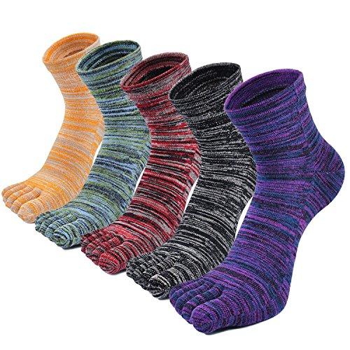 PUTUO Calcetines Dedos Hombres Calcetines de Deportes de Algodón, Hombres Cinco Calcetines del dedo del pie, 3/4/5 pares
