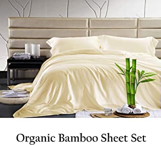 Jvin Fab Softest Sheets - Queen Bamboo Sheets - Bamboo Sheet Set - Blissfully Soft Bed Sheets Softer Than Cashmere Sheets(Queen, Ivory)