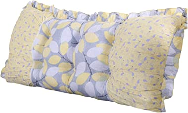 Soft and Comfortable Cotton Printed Large Cushion, Double Lace Color Pillow, Comfortable (Size : 14550cm)