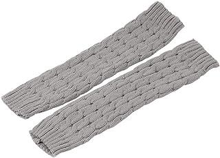 KHHGTYFYTFTY, KHHGTYFYTFTY Tobillo Calentador de la Pierna de Punto Pierna Cable Invierno de Punto de Ganchillo Alta Pierna del calcetín de Arranque para la luz Gris del Invierno