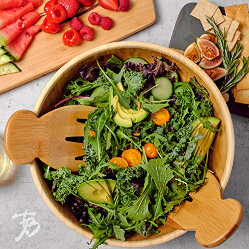 Product Image 2: Totally Bamboo Salad Hands, Bamboo Salad Server Set