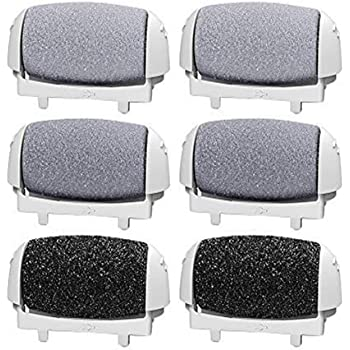 6 Pack Replacement Rollers Heads For Pritch 1138 A Electric Feet File Pedicure Tools, 2 Extra Coarse,2 Regular Coarse,2 Light Coarse Refill Rollers