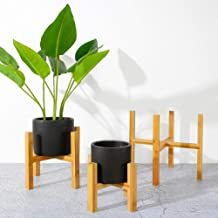 Duurzame houten vrijstaande plantenstandaard Bloemenstandaard met vier hoeken Succulente bloempot Lade voor woonkamer tuin...