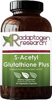 S-Acetyl Glutathione Plus NAC 1000mg Vitamin B6 10mg | Acetylated Form of Glutathione |Optimum Absorption & Bioavailabilit...