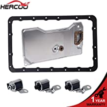 HERCOO A340E A340F with Filter Gasket Kit Transmission Shift Solenoid + Lock Up TCC Solenoid Compatible with 1987-Up Jeep Cherokee Wagoneer