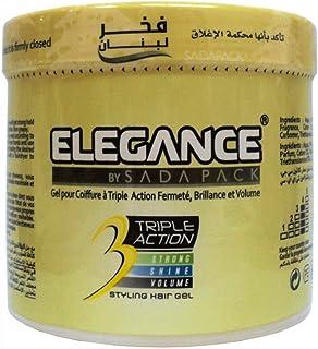 Elegance Triple Action Styling Hair Gel 1L - Yellow [ELE-104]