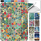 DuraSafe Cases for iPad Mini 4th Gen 2015-7.9 MK6K2LL/A MK6J2LL/A MK6L2LL/A MK9J2LL/A MK9H2LL/A Ultra Slim Energy Saving Printed Case with Adjustable Stand Feature and Sleek Design - Damask