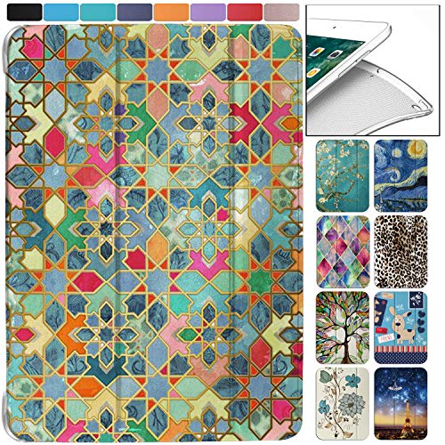 DuraSafe Cases for iPad 2nd Gen / 3rd Gen / 4th Gen - 9.7 Inch Slimline Series Lightweight Protective Cover with Dual Angle Stand & Clear PC Back Shell - Damask