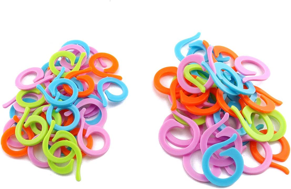 Ranking TOP10 E-outstanding 60pcs Soldering Stitch Markers Mixed Plastic Mini Color Knit