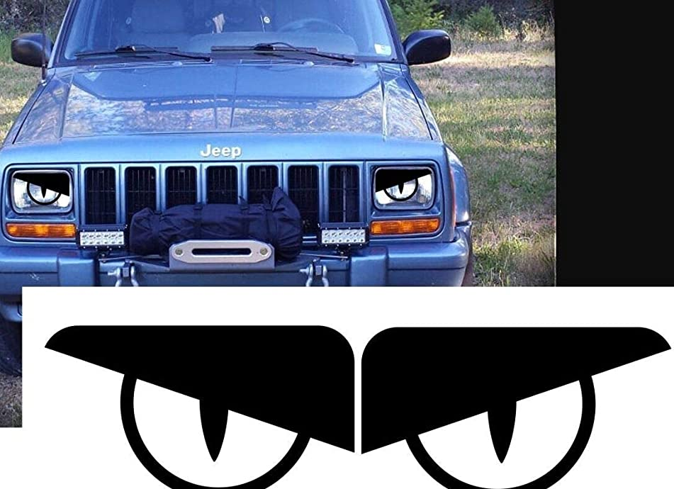 RJ Products Inc 87-96 Jeep Wrangler YJ Bad BOY Comanche Cherokee Angry Eyes Rattler Viper Decal