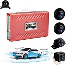 CarThree 360 Degree Bird View Panoramic System 4 HD Cameras Around View System with Night Vision DVR Parking Monitoring Driving Record Universal Rear View Cam for All Car