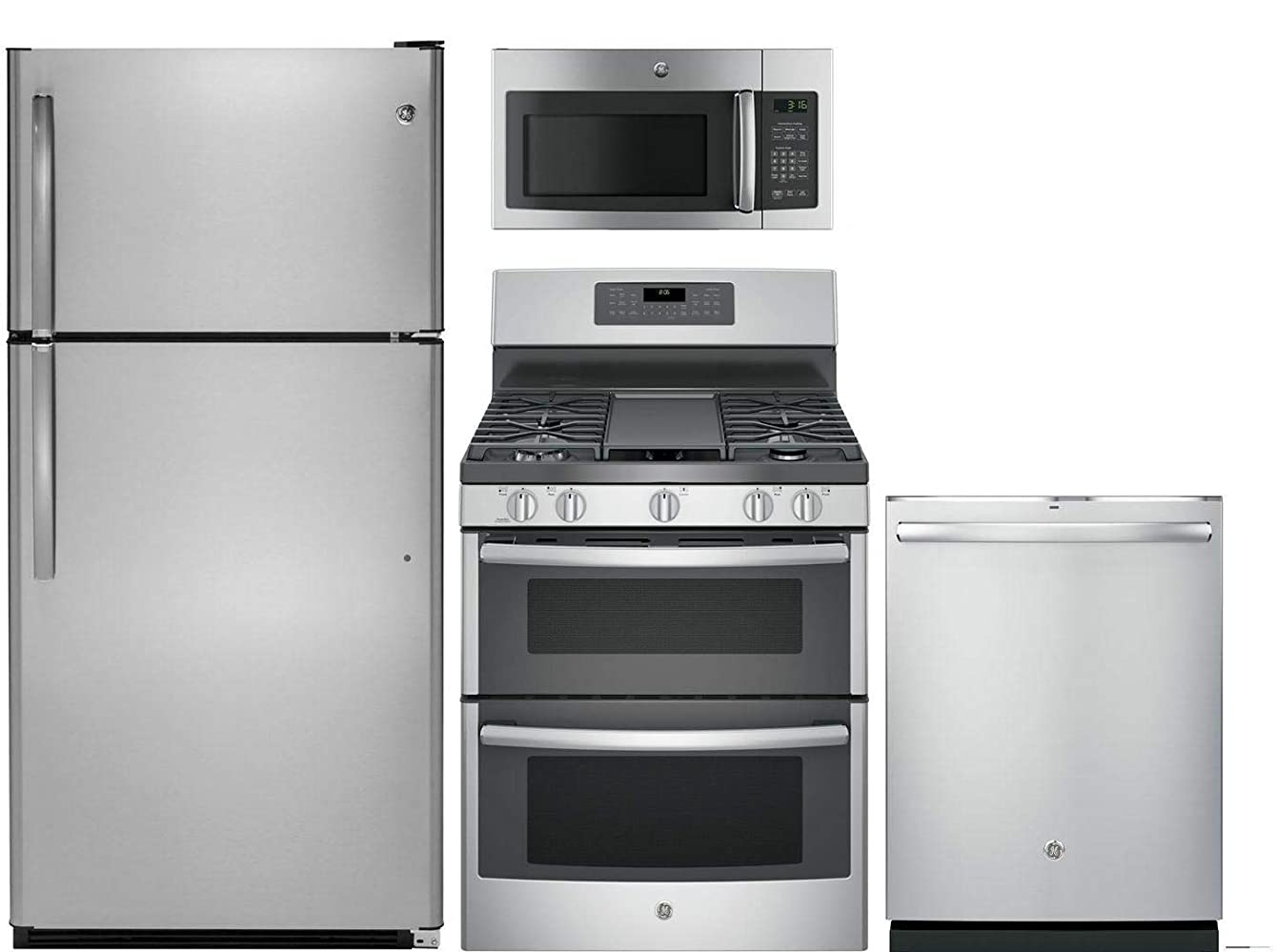 GE 4-Piece Kitchen Package with GTS21FSKSS 32