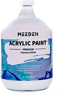 MEEDEN Heavy Body Acrylic Paint (2L /67 oz.) with Pump Lid, Non-Toxic Rich Pigments Colors, Perfect for Acrylic Poured Pai...