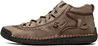 Asifn Men's Classic Suede British Style Firm Lace-up Loafers Lightweight Wear-Resistant Non-Slip Soft Warm Handsome Fashion Shoes