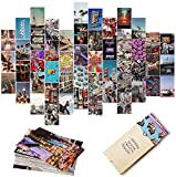 Retro 80s Wall Collage Kit Aesthetic Pictures, Aesthetic Room Decor, Retro Room Decor for Girls, Wall Collage Kit, VSCO Room Decor, Photo Wall, Aesthetic Posters, Collage Kit (50 Set 4x6 inch)