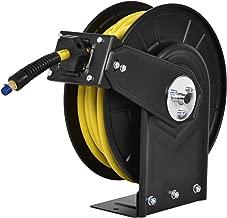 Goplus Air Hose Reel, Steel Compressor Hose Auto Rewind w/Retractable 3/8