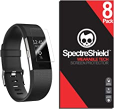 Spectre Shield (8 Pack) Screen Protector for Fitbit Charge 2 Accessory Fitbit Charge 2 Case Friendly Full Coverage Clear Film