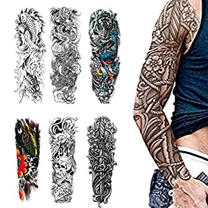 WYUEN 5 piezas de acuarela ancla cuerpo tatuaje temporal hombre ...