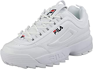 101ccfbb19 Fila Disruptor 2 Premium Patent Womens Fashion Trainers in White - 6 UK
