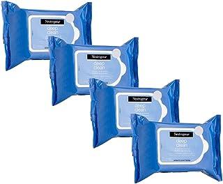 Kit com 4 Demaquilantes Neutrogena Deep Clean 25 unidades