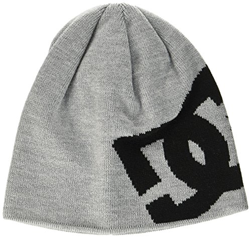 DC Shoes Herren Big Star Beanie Strickmütze, Grau (Grey Heather Knfh), One Size (Herstellergröße: 1SZ)