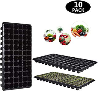 WAYDA 10Pack Seed Starter Kit, 72 Cell Gardening Tray-Plug Tray Starting Trays Seedling Starter Trays Plant Kit for Planting Seedlings