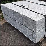AUPROTEC Granit Bordstein Naturstein massiv 8 x 20 x 100 cm Leistenstein grau DIN EN 1343