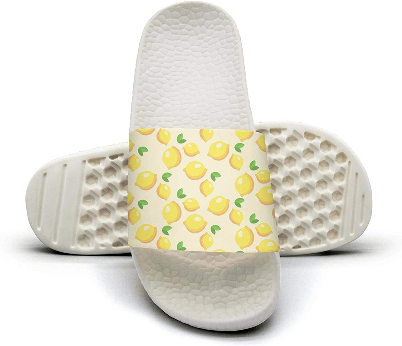 Women's Yellow Lemonade Slip on Beach Sandals and Anti-Slip Shower Slipper Comfort Sandals