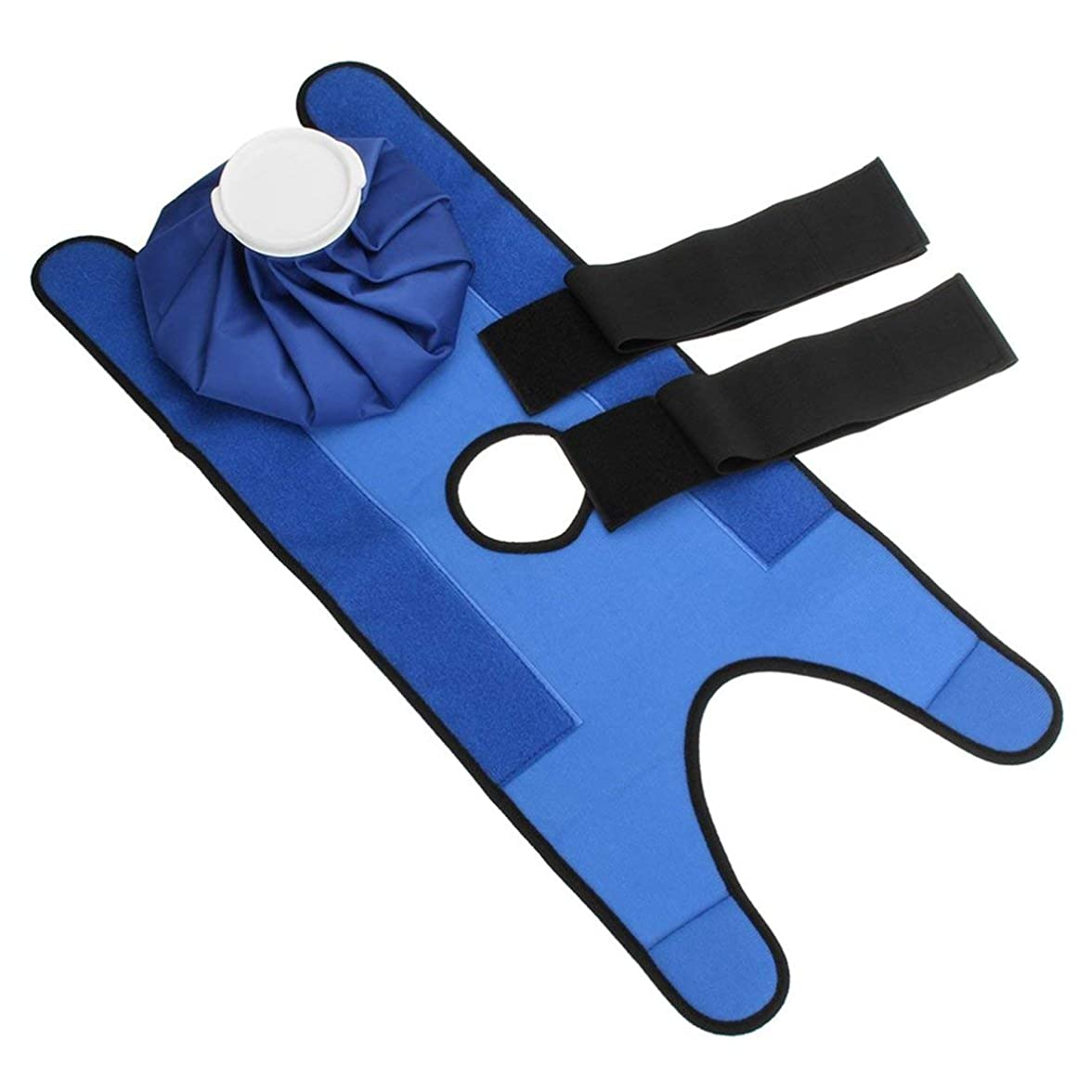 スーダン表示社会学Blackfell 小型サイズの再使用可能なヘルスケアの膝の頭部の足の筋肉スポーツ傷害の軽減の痛みのアイスバッグ包帯が付いている無毒なアイスパック