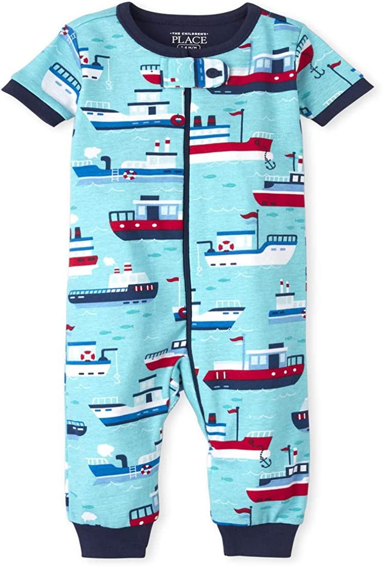 The Children's Place Baby And Toddler Boys Boat Snug Fit Cotton One Piece Pajamas