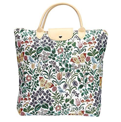 Signare Tapisserie Faltbare Einkaufstasche, Einkaufstasche Faltbar, Falttasche, einkaufsbeutel faltbar für die Handtasche (Frühlingsblume)