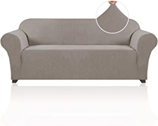 Best Stretch Sofa Slipcover 1 Piece Sofa Cover for 3 Cushion Couch Furniture Protector/Cover Couch with Elastic Bottom Soft and Durable Sofa Cover Pet Protector (Sofa, Taupe) Review