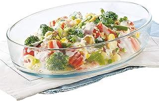 Borosil Oval Baking Dish, 700 ml, Transparent