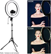 10 inch Led Selfie Ring Light with Stand, Big Led Camera Light with Cool Warm Mix Light, Led Circle Light for YouTube Video Live Stream Makeup
