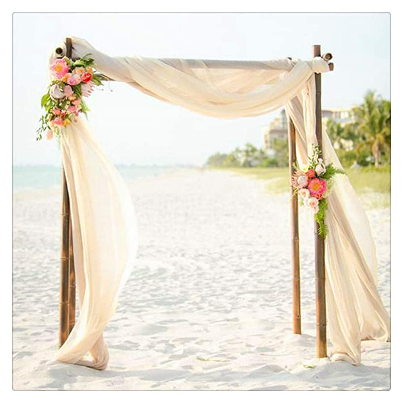 SoarDream 2 Pieces of Chiffon Table Runner 27x120-Inch Ivory Dining Room Table Runners Romantic for Wedding Table Bridal Shower Party Reception Decor