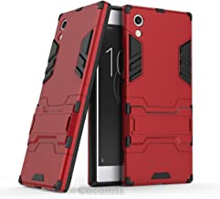 Cocomii Iron Man Armor Sony Xperia XA1 Case New [Heavy Duty] Premium Tactical Grip Kickstand Shockproof Hard Bumper [Military Defender] Full Body Dual Layer Rugged Cover for Sony Xperia XA1 (I.Red)