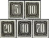 Prophila Collection DDR DB1-DB5 (kompl.Ausg.) 1956 Dienstmarken für Verwaltungspost (Briefmarken für Sammler)