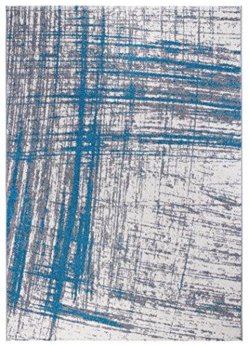 Andiamo 1100466 Cote D'Azur Teppich, Polypropylen, hellgrau / türkis, 170 x 120 x 0,8 cm