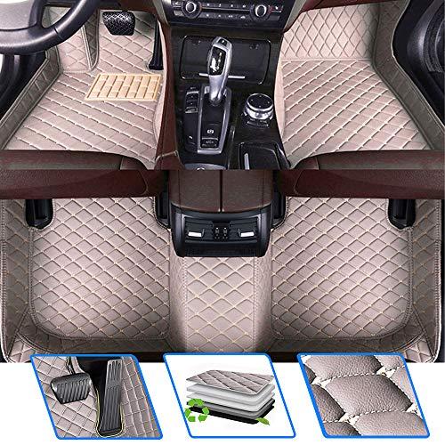 Qiaodi tappetini auto per Alfa R Omeo Mito 2009-2016 impermeabili antiscivolo in pelle tappeti copertura completa – Set di tappetini grigio