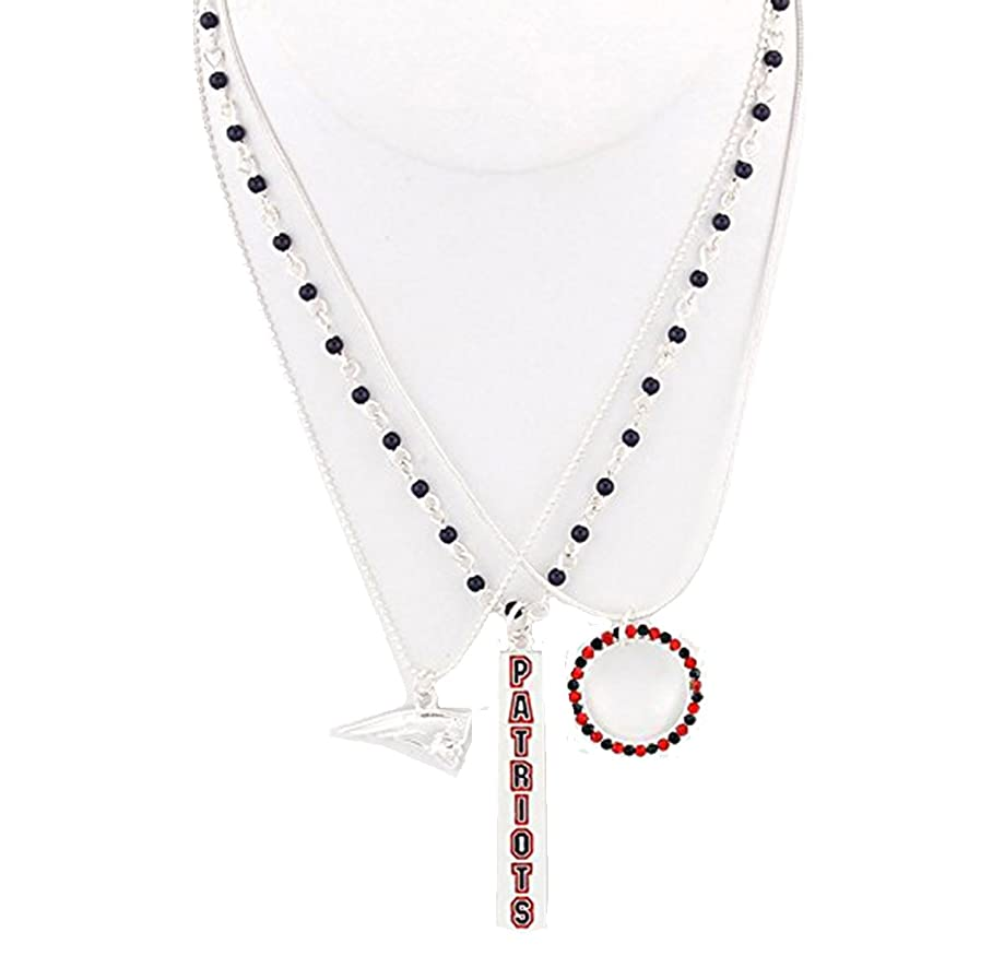 Season Jewelry NFL England Patriots Trio Necklace
