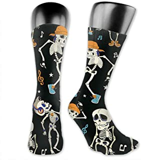 Luxury Calcetines de Deporte Dancing Skeletons Party Pattern Socks For Men Or Women, All-Season Lightweight Mid Calf Crew Socks