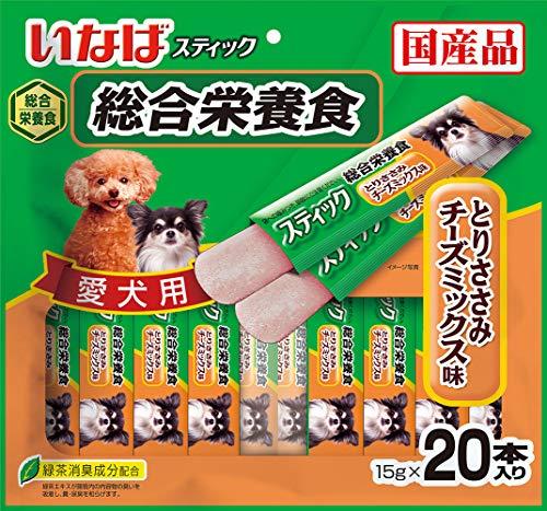 いなば 犬用おやつ スティック 総合栄養食 とりささみ チーズミックス味 15g×20本