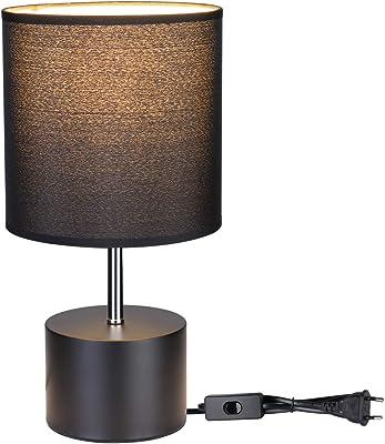 Brilliant Nachttischleuchte Claire Eisen//Grau E14 40W Schalter Metall Texil