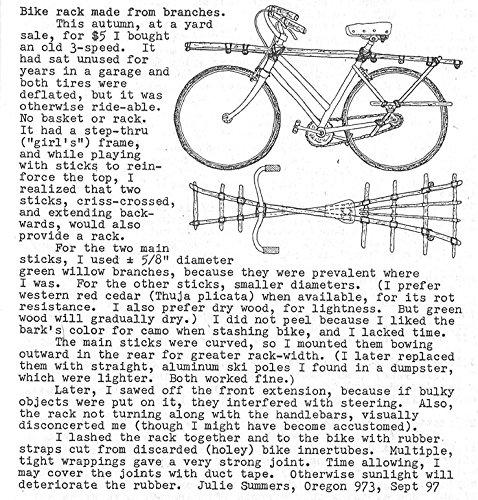Het Museum Outlet grafieken van - Zelfgemaakte Bike Rack - A3 Poster Print