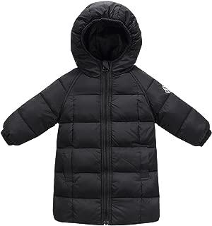 Baby Girls Long Down Coats Lightweight Outwear Winter Hooded Jackets