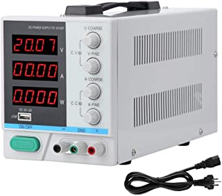 DC Power Supply Variable, Precision Switching DC Regulated Power Supply with 4 Digital LCD Display, 30V/10A, Overload/High...